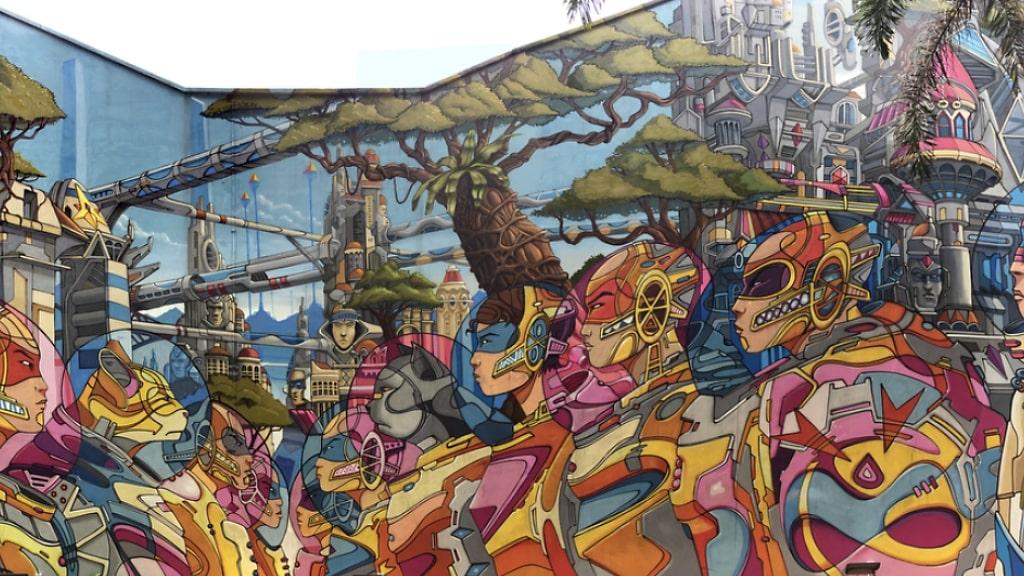 Singapore Haji Lane mural