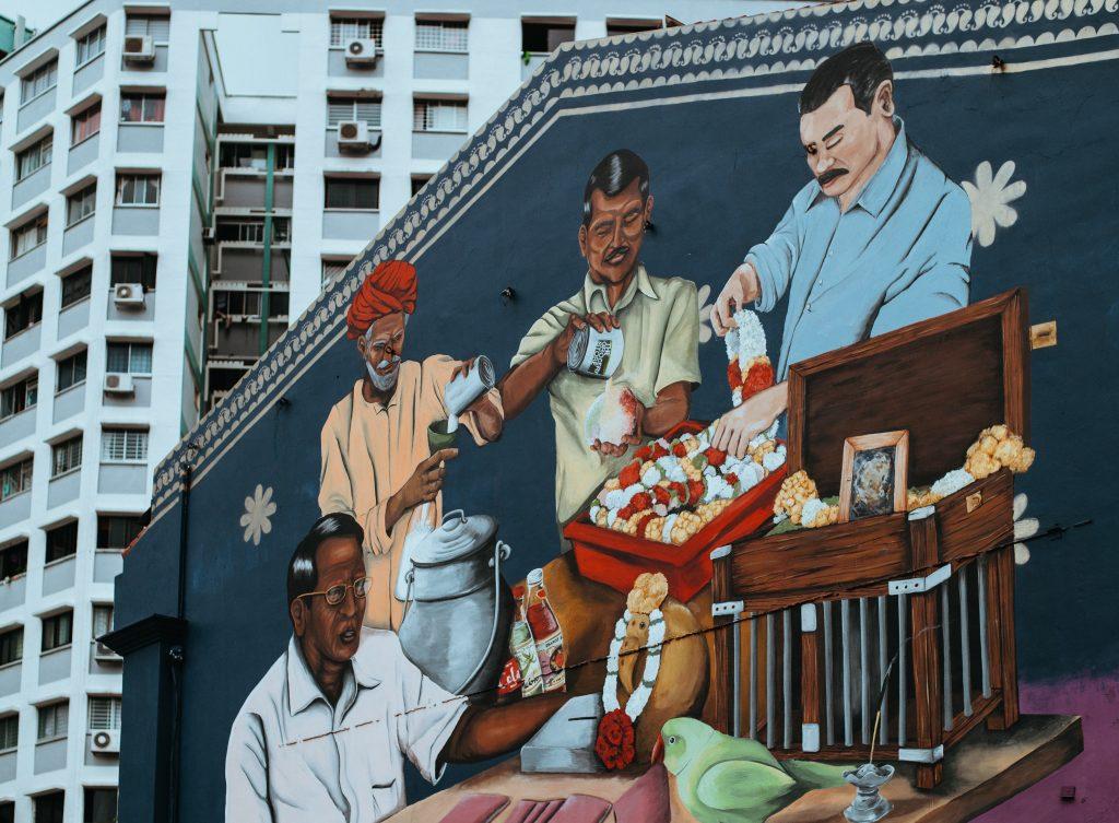 Singapore heritage mural
