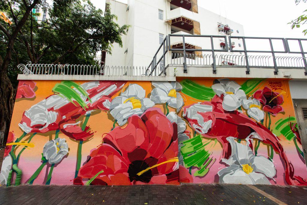 HK Walls floral mural