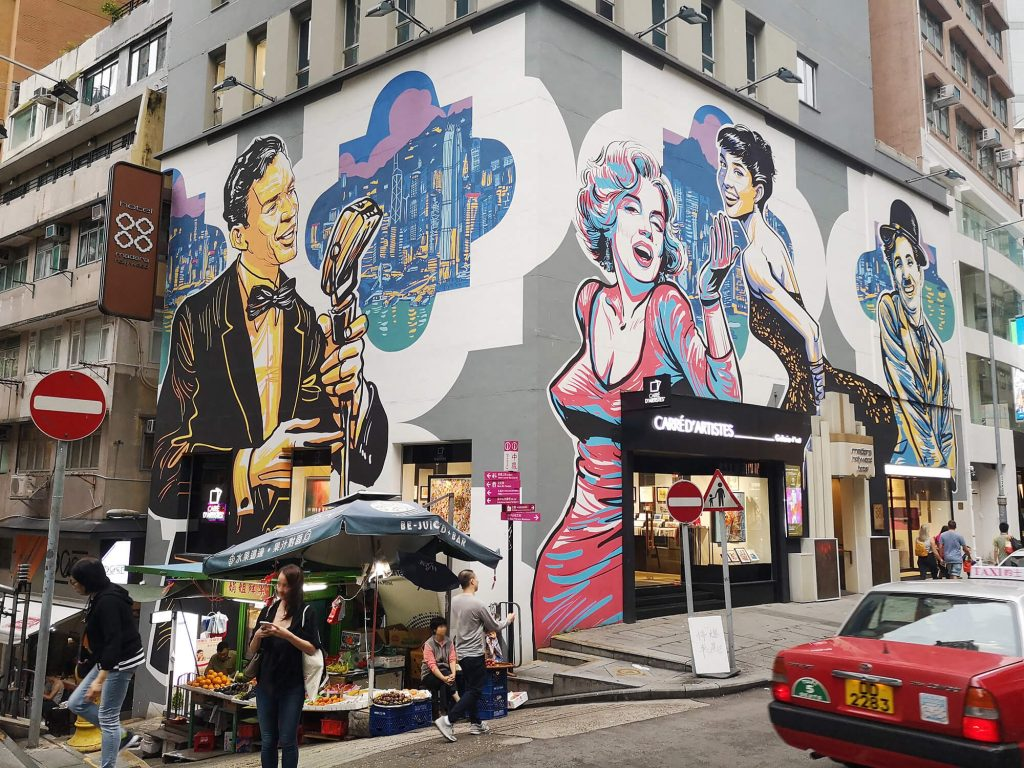SoHo street art Hong Kong