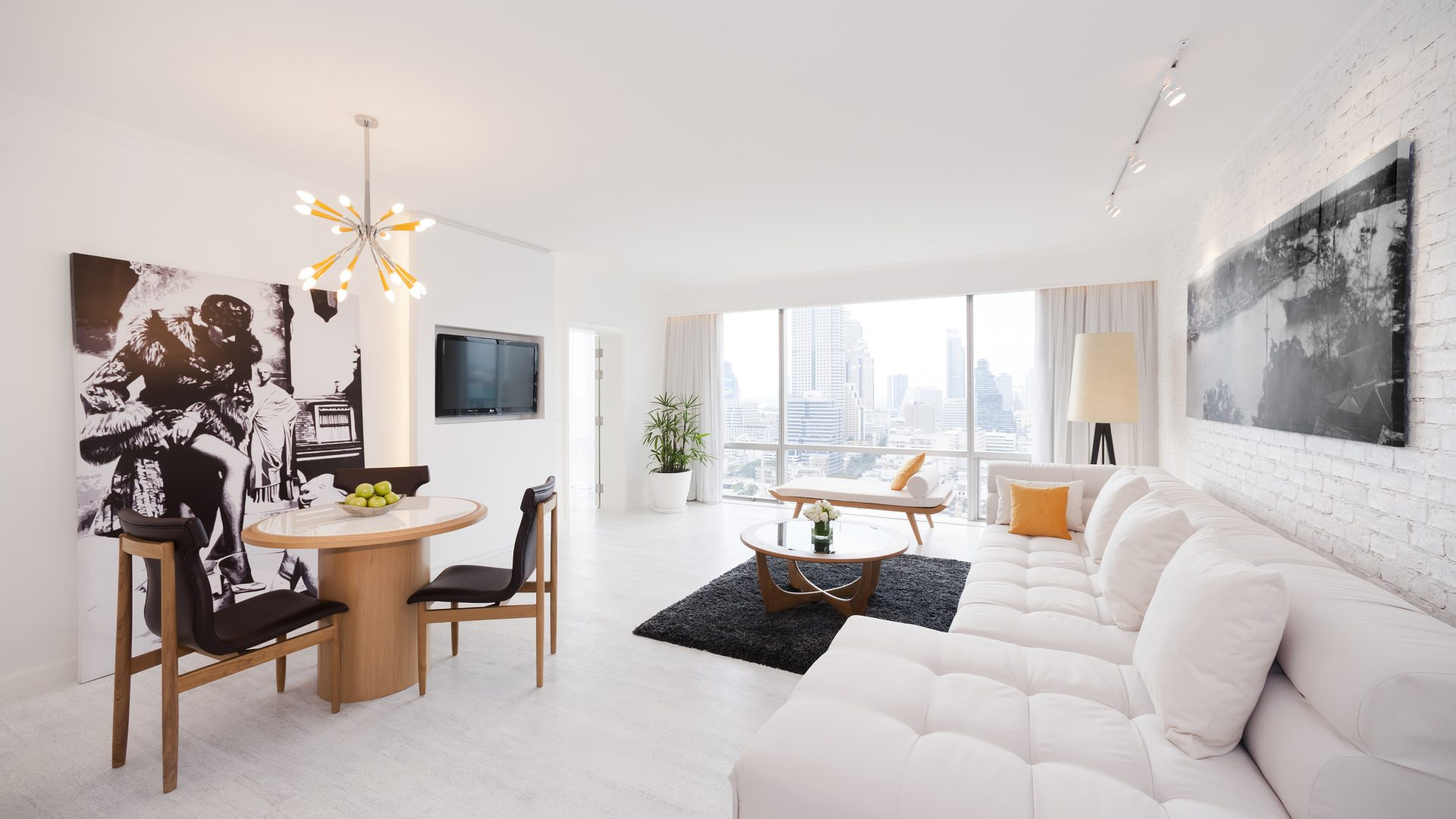 G Suite white living area
