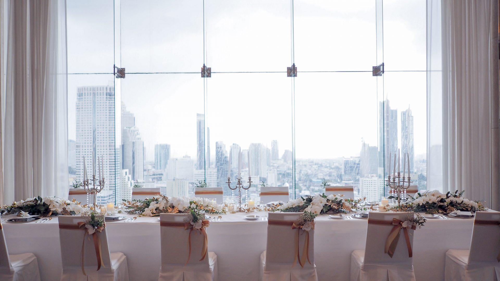 wedding banquet on top of Bangkok