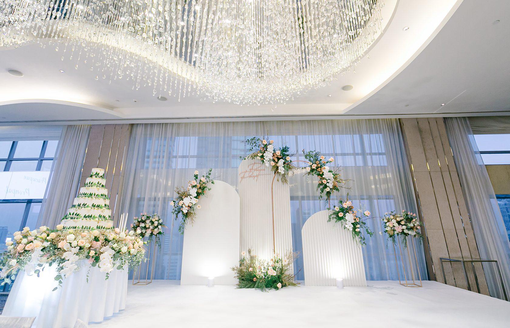 top floor Ballroom elegant wedding decoration