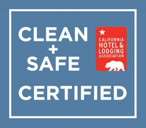 Clean + Safe Certified by the California Hotel & Lodging Association